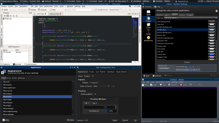 Apply a dark theme to KDevelop 5 0 3 from AppImage • KDE